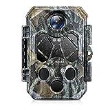 COCOCAM Cámara fotográfica 4K 32MP para vida silvestre con detector de movimiento, visión nocturna, LEDs infrarrojos de bajo brillo. Cámara de caza con tiempo de disparo de 0,2s y gran angular de 120°