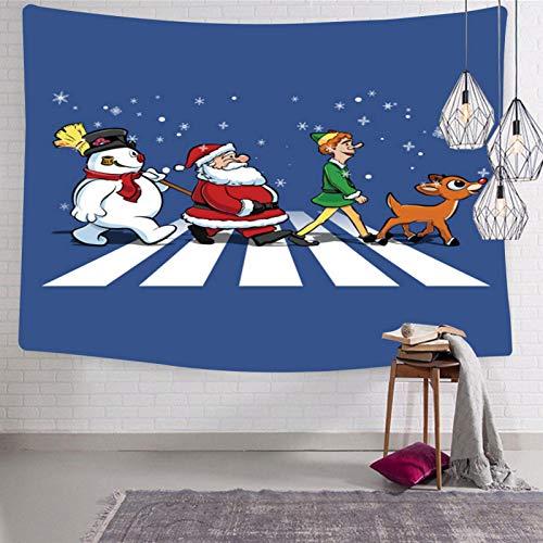 Tapiz De Pared De Navidad Para El Hogar Cómodo Suave Para Interior Al Aire Libre