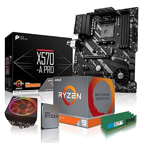 dcl24.de PC Aufrüstkit [11796] AMD 9-3900X 12x3.8 GHz - 64GB DDR4, X570-A Mainboard Bundle Kit, ohne onBoard Grafik, eigenständige Grafikkarte notwendig