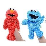 N A Sesame Street The Muppet Show Peluche Giocattolo Marionetta a Mano Giocattolo Burattini a Mano Animali per Bambini Elmo Cookie Mostro Burattino a Mano Bambola di Pezza 31CM/2PCS