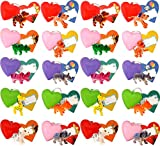 HXS Valentines Cards 30 Packs Kids Valentine Cards Valentine Gift Toys with 30 Animals Filled Hearts and Valentine Cards for Kids Valentine Classroom Exchange Valentine's Day Greeting Party Favors