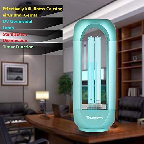 Trustown 35W Lampada disinfettante per lampada UV, sterilizzatore per lampada germicida UVC per soggiorno, camera da letto, cucina, ufficio, verde