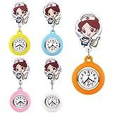 manifo Juego de 5Enfermera Reloj dibujos animados Enfermeras Hermana Reloj cuidado Reloj silicona reloj de bolsillo broschenuhr Reloj de cuarzo relojes Set