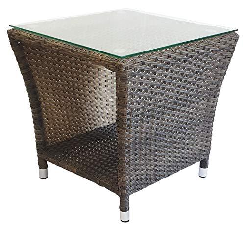 KMH®, Beistelltisch Gartentisch Tjorben aus braunem Polyrattan (#106139)