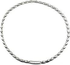 Rakii Germanium Necklace Stainless Hematite (Silver)