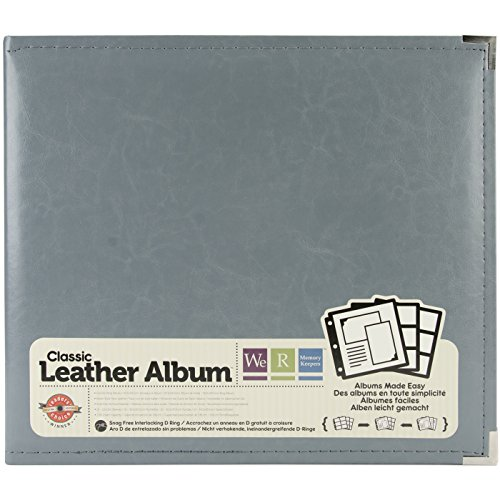 """We R Memory Keepers 0633356609056 Classic Album Album & Sleeve-12 x 12-Ring-Charcoal, 12"""" x 12"""""""
