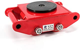 Industrial Machinery Mover, Machinery Mover Roller Dolly Skate with 360 Degree Rotation Cap (Red, 6T/13200lbs)