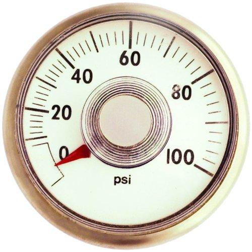 MILTON Center Back Mount Pressure Gauge 638-7, 0-160 PSI Pressure Range, 1/8