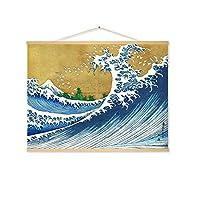 北欧の巨大な波のキャンバスの絵画ベッドサイド海のポスターサーフプリント壁アートの写真リビングルームの装飾,B,60*80CM