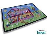HEVO Puppenhaus Teppich | Spielteppich | Kinderteppich 140x200 cm Oeko Tex 100