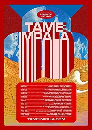 Official Póster de Tame Impala (Tour) 2020 (68,5 x 96,5 cm)
