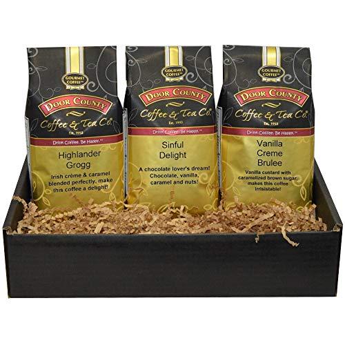 Door County Coffee, Flavored Coffee Gift Set, 10oz Bags, 3 Best-Sellers