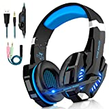 Casque Gaming pour PS4 Xbox One,G9000 Casque Gamer avec Micro Anti Bruit LED Lampe...
