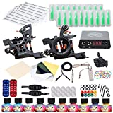 Dragonhawk Complete Tattoo Kit 2 Machine Gun 10 Color Inks Power...