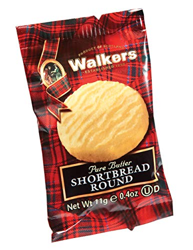 Walkers Shortbread 200 x Mini Shortbread Rounds, 11 g, 1203