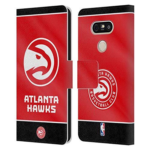 Head Case Designs Ufficiale NBA Banner 2019/20 Atlanta Hawks Cover in Pelle a Portafoglio Compatibile con LG G5 SE / G5 Lite