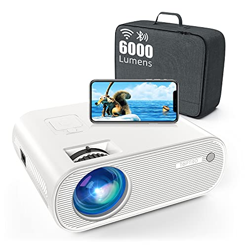 WiFi Beamer Bluetooth TOPTRO 6000 Lumen Tragbares 720P Full HD Heimkino Projektor 120