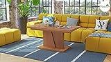 Design Couchtisch Tisch Grand Noir Erle stufenlos höhenverstellbar ausziehbar 120 bis 180cm Esstisch