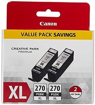 Canon PGI-270XL Black Twin Value Pack Compatible to MG6820 MG6821 MG6822 MG5720 MG5721 MG5722 MG7720 TS5020 TS6020 TS8020 TS9020