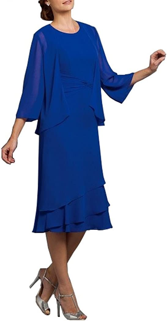 Promworld Women's Safety and trust Max 77% OFF Tea Length Mother of The with Dress Jack Bride