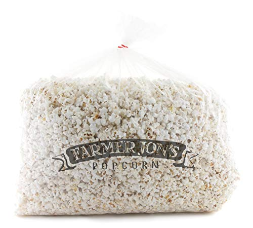 Find Bargain Farmer Jon's Popcorn Natural White Bash Bag, 144oz of Bulk White Popped Popcorn