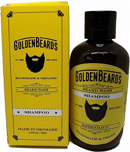 Golden Beards Shampoo Per Barba Il Modo Perfetto Tutto Naturale Di Cura Per La Barba - 100 Ml