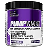 Evlution Nutrition Pump Mode, Booster D'Oxyde Nitrique En Poudre Pour Entraînements Avec Poids Pour Améliorer La Performance Et La Circulation Sanguine, 30 Doses (Furious Grape)