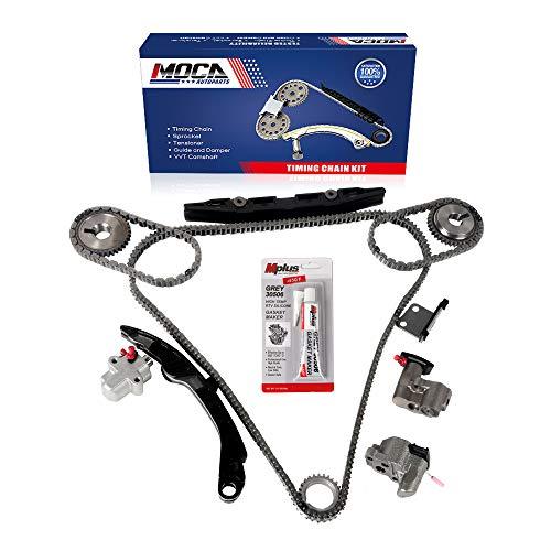 MOCA Engine Timing Chain Kit for 2003-2005 Infiniti FX35 G35 & 2002-2003 Nissan Maxima & 2003-2007 Nissan Murano 3.5L V6 DOHC 24V Engine Code VQ35DE