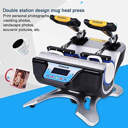 Double Stations Mug Heat Press ST-210 Sublimation Transfer Printing Machine (110V US Plug)