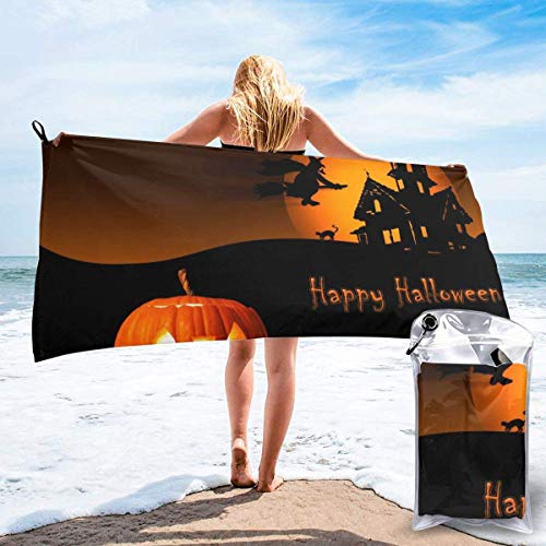 hotspu Microfibre Cooling Towel, Cooling Sports Towel For Travel, Beach, Gym, Camping, Swimming, Yoga, Happy Halloween #10 - Quick Dry, Lightweight