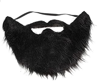 BinaryABC Beard and Mustache,Halloween Costume Party Festival Supplies (Black)