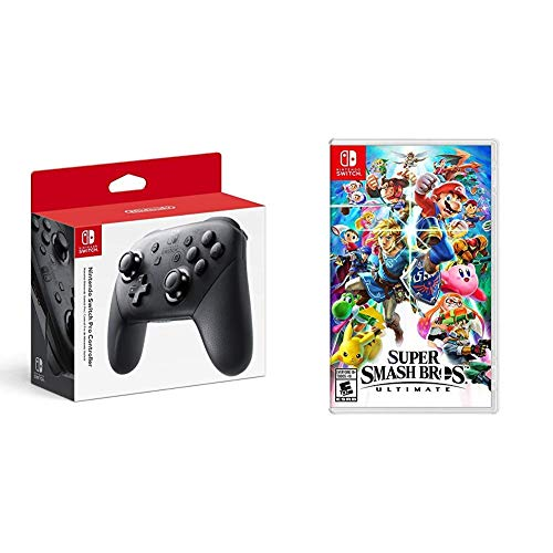 Nintendo Switch Pro Controller Bundle with Super Smash Bros. Ultimate