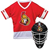 Franklin Sports Ottawa Senators Kid's Hockey Costume Set - Youth Jersey & Goalie Mask - Halloween Fan Outfit - NHL Official Licensed Product