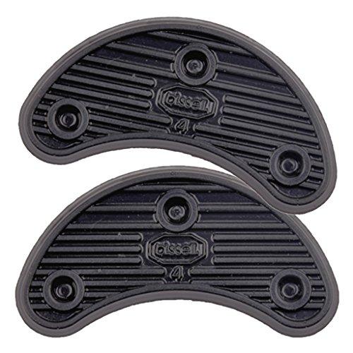 F Fityle Placas de Goma para El Talón Zapatos Tacos para Talón Puntas Reparación de Suelas Reemplazo de Almohadillas - Negro, 45x19mm