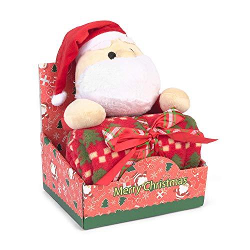 Muñeco Peluche Navidad Papá Noel con Manta (CHRISTMAS SANTA)