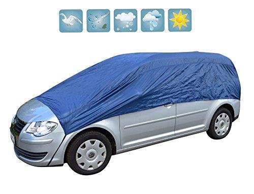 Autoabdeckung Halbgarage Abdeckplane (Atmungsaktiv) Schutz gegen Vereisung & Verschmutzung im Winter & Sommer (M-XXL), Größe:L/XL