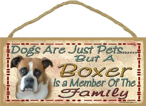 Hunde sind nur aber eine Boxershorts ist Teil der Familie Hund Schild 12,7x 25,4cm