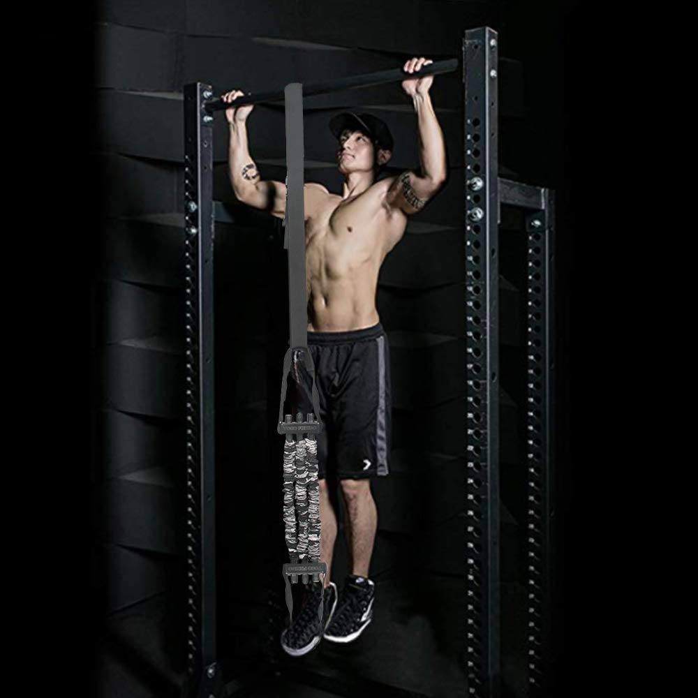"""INNSTAR Pull up Assist Band System Adjustable Anti Snap Chin Up Assistance Elastic Resistance Band /""""Patent Pending/"""""""