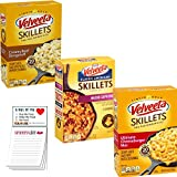 Velveeta Skillets Variety pack of 3   Kraft One Pan Dinner Kit   Creamy Beef Stroganoff   Ultimate Cheeseburger Mac   Nacho Supreme   Snack Fun Shopping Pad
