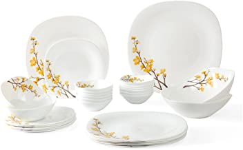Laopal 3059A Quadra Dinner Set - 26 Pcs, Summertide, White