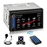 SJoyBring JOY-9086 Double Din HD Capacitive Touch AM/FM Car Stereo - 10 Band EQ,...