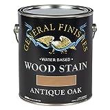 一般的な仕上げWoga Waterbase木製Stain、1ガロン、アンティークオーク
