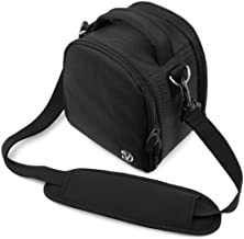 VanGoddy Laurel Carrying Bag for Canon PowerShot SX530 HS / G3 X / SX60 HS / SX50 HS / SX40 HS / SX30 IS / SX1 IS / SX10 IS SLR-Like Digital Cameras (Black)