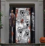 JOYIN 3D Halloween Cubierta Pegatina de Puerta de Esqueleto Aterrador 76 x 182cm Decoración de Halloween de Puerta, Ventana, Pared, Decoración Interior al Aire Libre