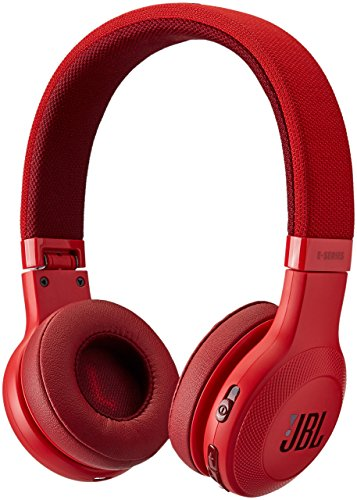 JBL E45BT On-Ear Wireless Headphones (Red) (Renewed)