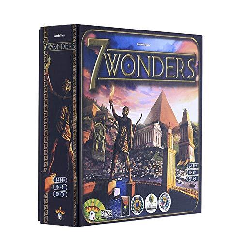ZEL Hochwertige Seven Wonders Showdown Deutsche Version 7 Wonders 2-7 Person Party-Spiel Brettspiel Karte Strategie Reasoning Camping Toy 8.11