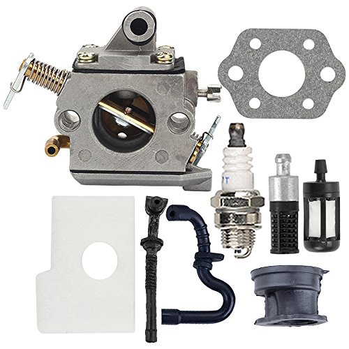 Butom MS170 Carburetor with Air Filter Tune Up Kit for 017 018 MS180 MS180C MS170C Chainsaw C1Q-S57A 1130 120 0603