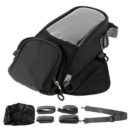Qiilu Motorrad Tankrucksack, Motorradöl Tankrucksack Magnet W/GPS Telefon Tasche Wasserdichtes Motorradgepäck