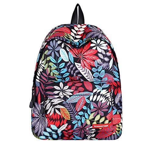 Teen School rugzak Graffiti, bloemenmotief, voor meisjes, elegant, voor laptop, rugzak, reistas, schoudertas PNYGJIBB