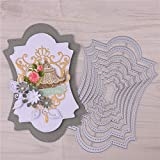 Frame Metal Cutting Die Cuts, DIY Crafts Template Frame Paper Cards Cutting Dies Cut Stencils for DIY Embossing Card Making Book Tags Decorative Paper Dies Scrapbooking